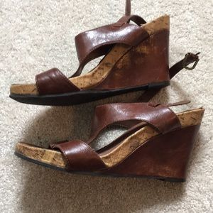 Shoes - Aerosoles Leather and cork Wedges